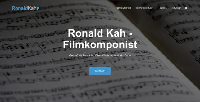 Ronald Kah - Filmkomponist